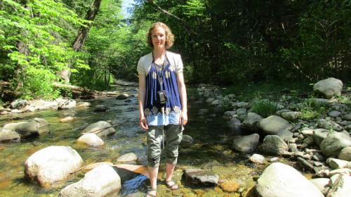 Walking in the Brook