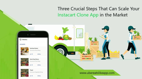 Three Crucial Steps That Can Scale Your Instacart Clone App in the Market