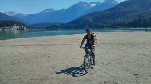 Biking at Green Lake