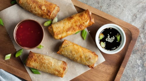Easy Vegan Buffalo Air Fried Egg Rolls