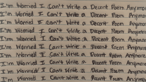 I'm Worried I Can't Write A Decent Poem Anymore