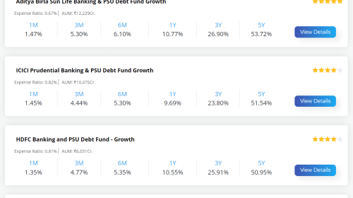 Top 5 Banking and PSU Mutual Funds to Invest In