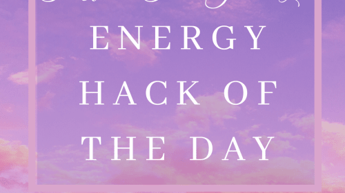 Energy Hack of the Day