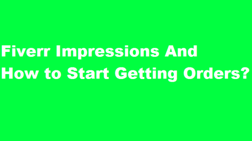 What is an Impression on Fiverr