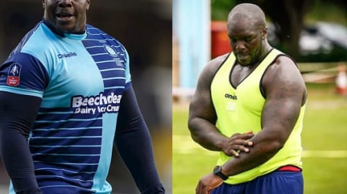 English-born Nigerian striker, Adebayo Akinfenwa claims he was called a 'Fat Water Buffalo' during play-off tie against Fleetwood