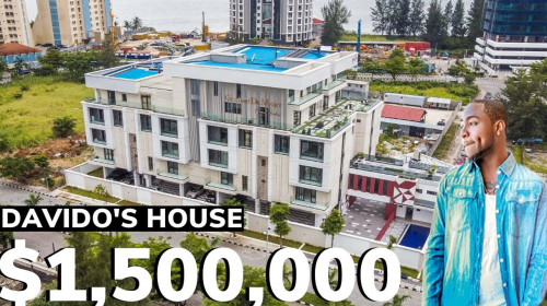 Inside Davido's $1,500,000 Banana Island Mansion (Photos).