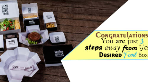 Congratulations! You are just 3 steps away from Your Desired Food Boxes.