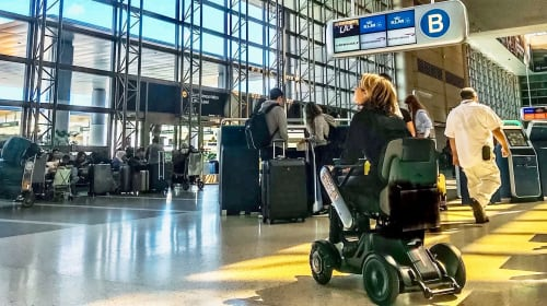 Traveling on an Airplane with a Power Wheelchair