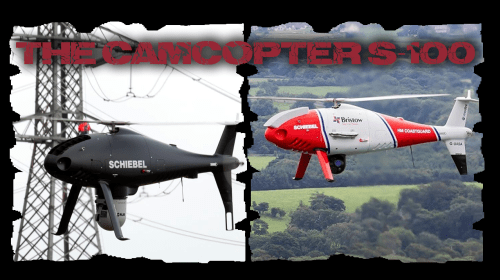 Drone with a mission on the North Wales coast