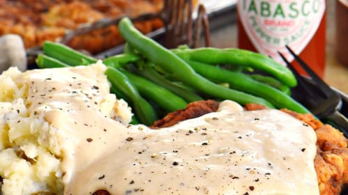 Chicken Fried Steak With Country Gravy.The Down Home Southern Comfort Food