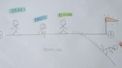 How to Fix 'Start-Pause-Resume-Quit' Behavior?