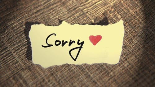 Sometimes you have to say Sorry to Save a relationship...