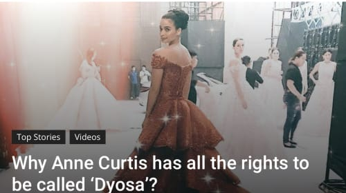 "In the Philippines, ""Dyosa"" Does Not Refer to Me or You"