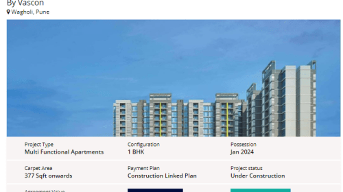 Vascon Citron- A Modern and Luxurious 1 BHK Flats in Pune