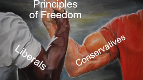 Liberals & Conservatives: Brothers In Arms