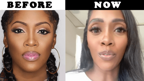 Why Tiwa Savage's Eyes Are Suddenly So Big (Photos).