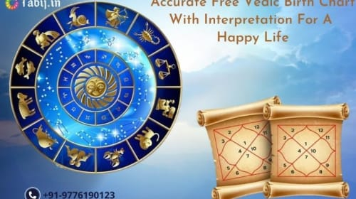 Accurate free Vedic birth chart with interpretation for a happy life