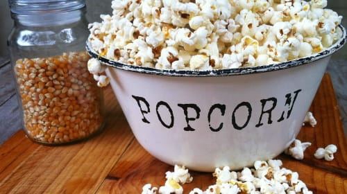 Popcorn! Traditional and Many Other Varieties of Ways to Serve It Through the Years