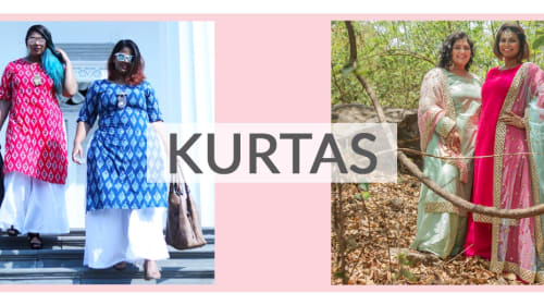 Designer plus size kurtis collection online - Inspiration the Curve