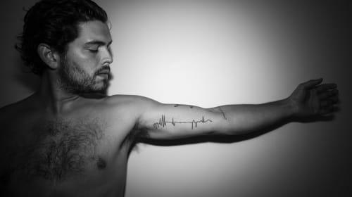 Tattoo of a Flat Line