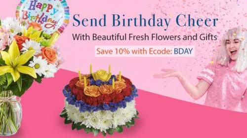 Send Birthday cheer with fresh flowers