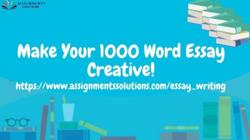 How to write 1000 words Essay