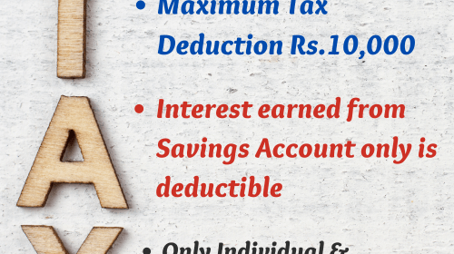 Section 80TTA Deduction-TDS on Interest
