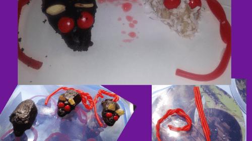 Chocolate bleeding mice Halloween treat