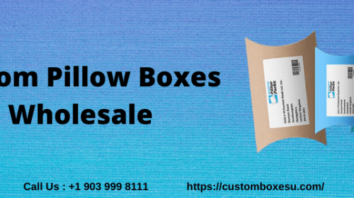 Custom pillow boxes wholesale packaging in Texas USA