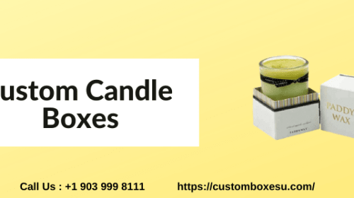 Luxury Custom Candle Boxes with Printed logo & Design