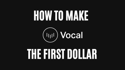 How To Make The First Dollar