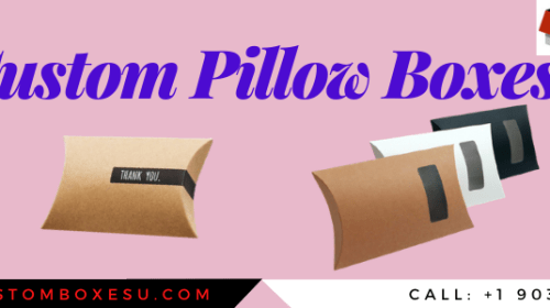 Custom pillow boxes wholesale Available in All Sizes &Shapes