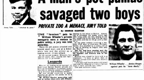 On the Origins of the 'Dangerous Wild Animals Act' of 1976 – PART II (History has a Knack of Repeating itself for Those Who are Too Keen to Forget)