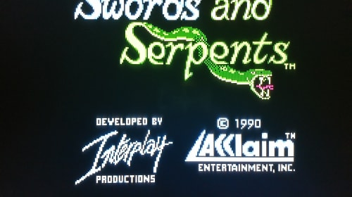 Swords and Serpents for the NES