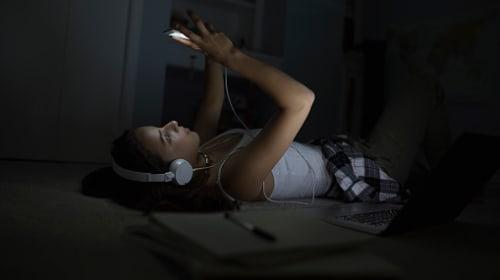 Sleeping with Headphones on in the Dark