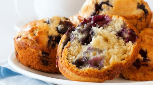 Best Blueberry and Lemon Muffins with Orange Cappuccino