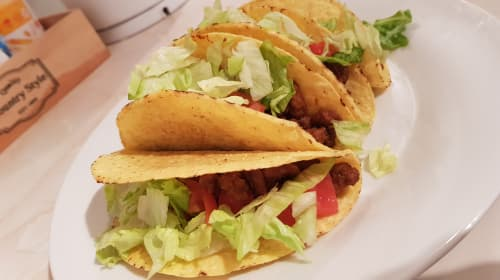 Low Calorie Homemade Spicy Beef Tacos