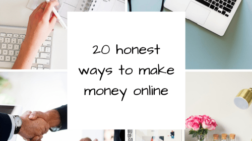 20 Honest Ways to Make Money Online