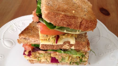 Smoked Almond and Chickpea Sandwiches