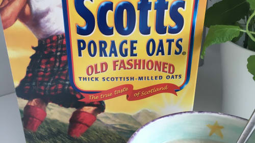 The Scott's Porage Oats Man and I
