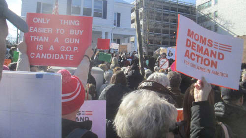 New Yorkers Against Gun Violence Holds Rally in Front of Republican Headquarters