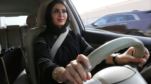 Woman Driving in Saudi Arabia Conflict