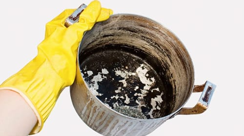 DIY - Burnt to Shiny Pot, How to