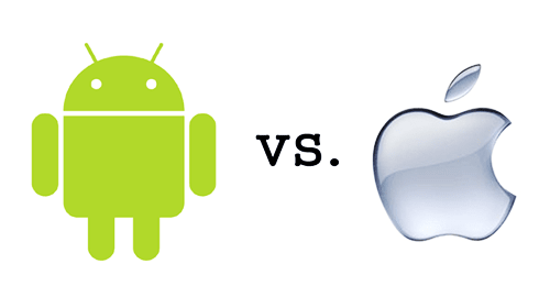 Google (Android) Vs. Apple (iOS)