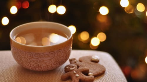 Best Gingerbread Cookies Ever with Hot Maple Cider Toddies