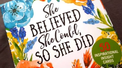 'She Believed She Could, So She Did' Feminist Affirmation Cards Review and More