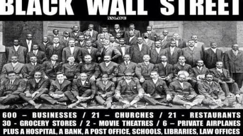 Black Wall Street: A Story of Black Excellence Destroyed
