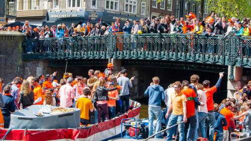 Celebrating King's Day in Amsterdam