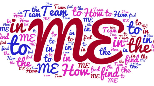 "How to Find The ""ME"" In ""TEAM"""