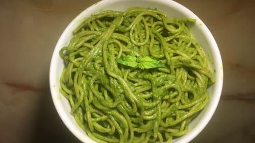 Vegan Peruvian Tallarines Verdes Recipe